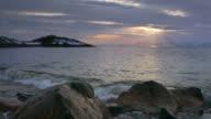 Vesteralen Fjord Norway winter sunset video