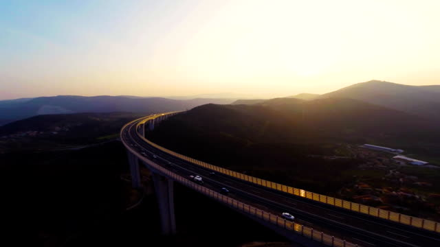 HD HELI: Viaduct At Dusk video