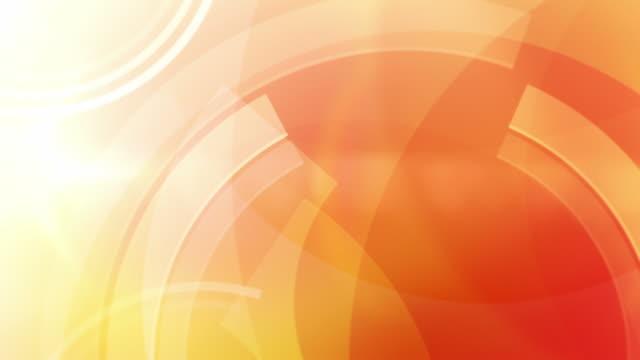 Vibrant Circles Background Loop - Orange (Full HD) video