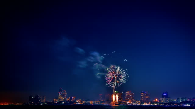 Vibrant firework video