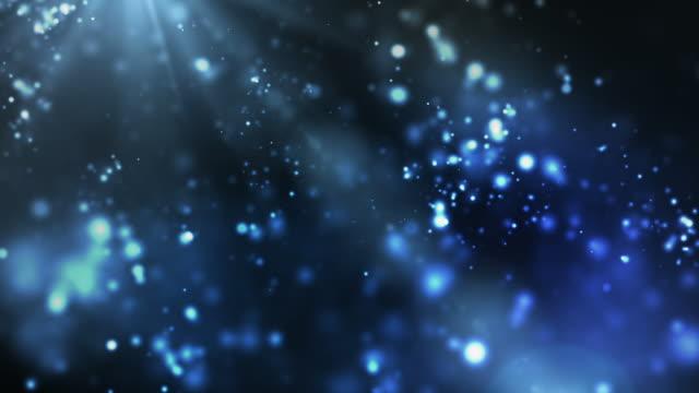 Vibrant Night Sparkles Loop - Blue (Full HD) video