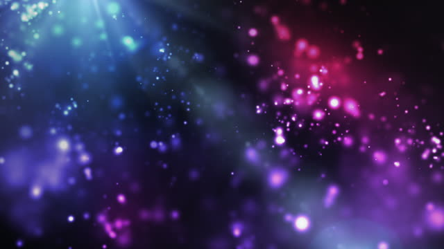 Vibrant Night Sparkles Loop - Blue/Pink (Full HD) video