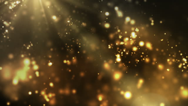 Vibrant Night Sparkles Loop - Golden (Full HD) video