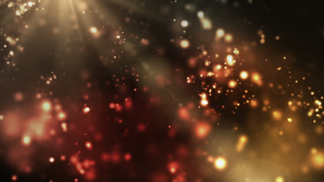 Vibrant Night Sparkles Loop - Orange/Red (Full HD) video