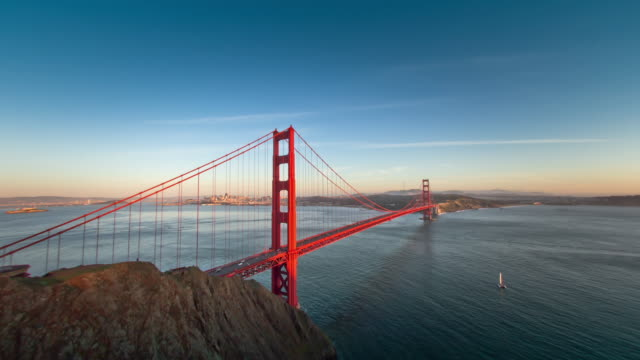 Vibrant Sunset at Golden Gate Bridge. video