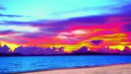 Vibrant sunset video