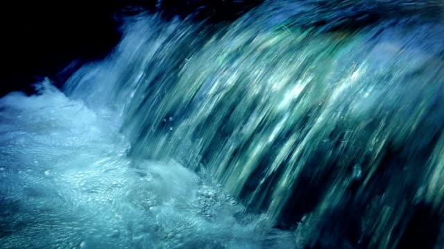 Vibrant Waterfall Closeup video
