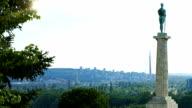 HD: Victor Monument in Belgrade, Serbia video