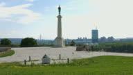 4K: Victor Monument in Belgrade, Serbia video