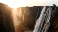 Victoria Falls Zimbabwe, Aerial video, Africa video