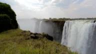 Victoria falls, Zimbabwe, Africa wilderness landscape video