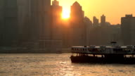 Victoria Harbor at Sunset video