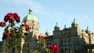 Victoria Parliament Building and Flowers, BC video