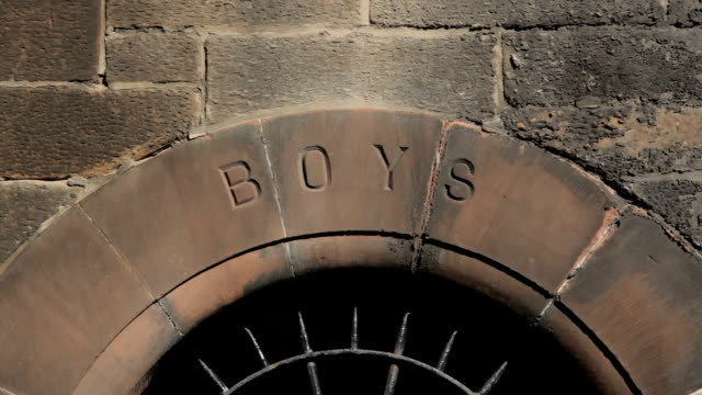 Victorian school entrance for boys only video