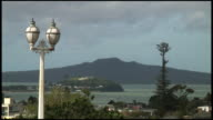 HD: Victorian Street Lights, Lamps In Front Of Volcanic Island video