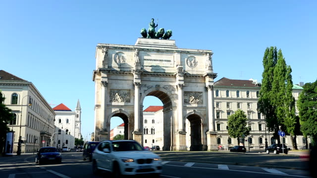 Victory Gate in Munich + Audio video
