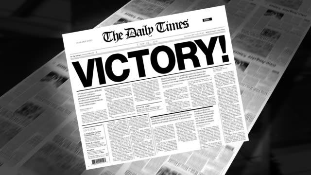 Victory! - Newspaper Headline video
