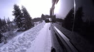 4K UHD Video  3840x2160 :  Crazy driver on the snowy forest road video