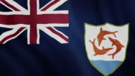 4-K Video : Anguilla waving flag video