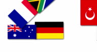 Video animation about Germany and other G20 nations flags video