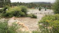 HD video Big Thompson River floods Estes Park Colorado video