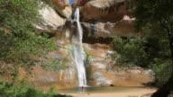 HD video Calf Creek Falls pours Escalante National Monument Utah video