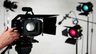 Video camera DSLR moving on slider video