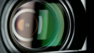 Video camera lens, showing zoom, close up video