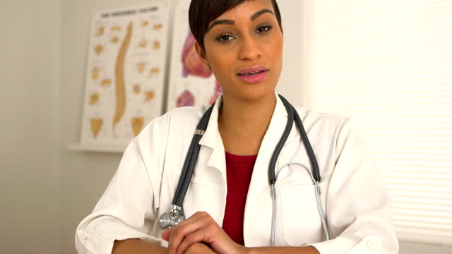 Video conference with African American doctor video