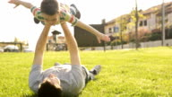HD video father and son play at the park video
