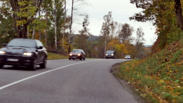 video footage of a car trip on a twisting road video