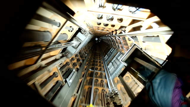 video footage of a elevator shaft video