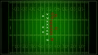 HD Video: Football Strategy over gridiron background video