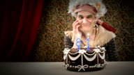 HD video funny old grandma joke on birthday cake video