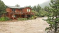 HD video home flooding Estes Park Colorado video
