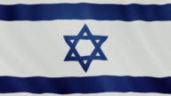 4-K Video : Israel waving flag video