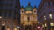 4K Video -  kirche st. peter vienna timelapse video