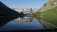 HD Video Lake Josephine Mount Gould Reflections Glacier NP video