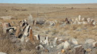 HD video man explores Native American ruins Colorado grasslands video