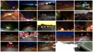 Video Montage Driving Time Lapses video