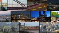 Video Montage Portland City Traffic video