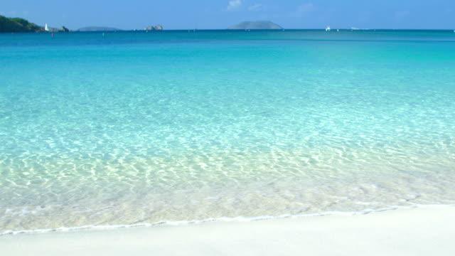 video of a beach shoreline at Hawksnest Bay, St.John, USVI video