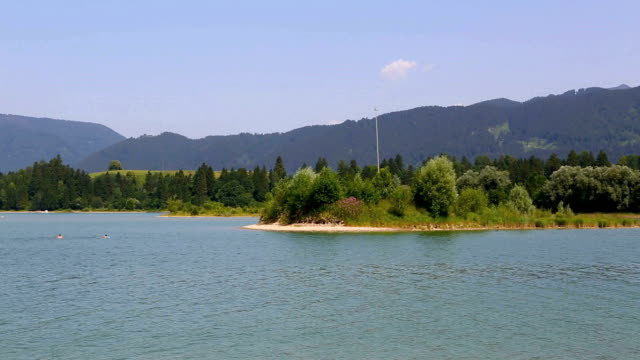 Video of a lake in the Bavarian Alps video