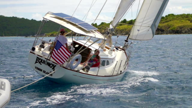 video of a sloop sailing through the Caribbean video