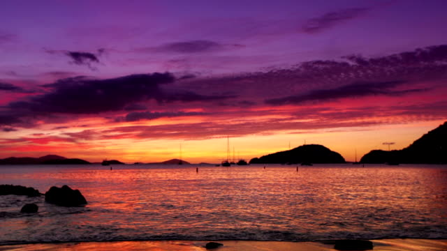 video of a spectacular sunset at Francis Bay, St.John, USVI video
