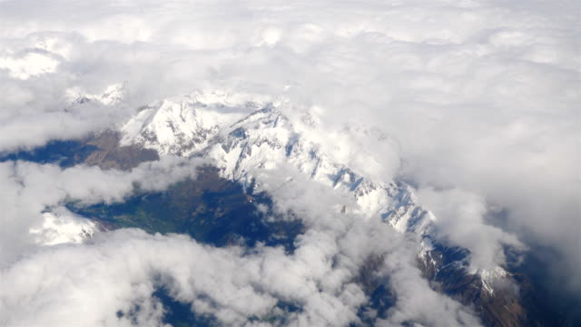 Video of aerial shot on Alps moutains video