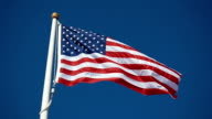 Video of American flag in slow motion video