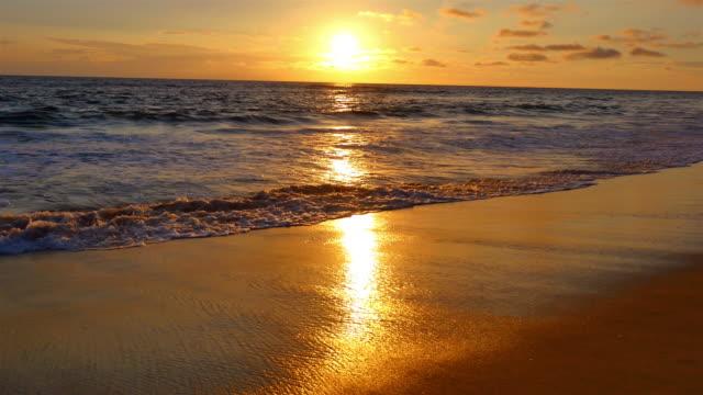 Video of beautiful sunset in California in 4K video