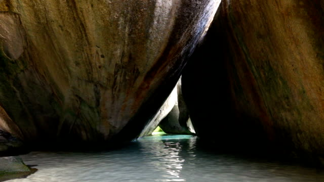 video of caves at The Baths, Virgin Gorda, BVI video