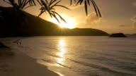 video of Cinnamon Bay Beach, St.John, USVI during sunset video